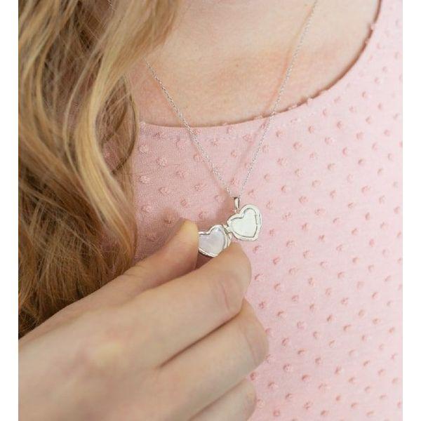 """Sterling Silver """"Lana"""" Heart Locket Image 2 Vandenbergs Fine Jewellery Winnipeg, MB"""