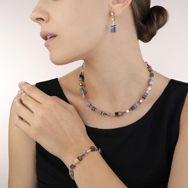 Blue-Brown Lilac GeoCube Necklace Image 2 Vandenbergs Fine Jewellery Winnipeg, MB