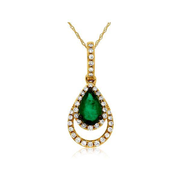 gold emerald diamond necklace