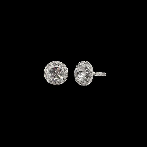 Sterling Silver Crystal Halo Studs Vandenbergs Fine Jewellery Winnipeg, MB