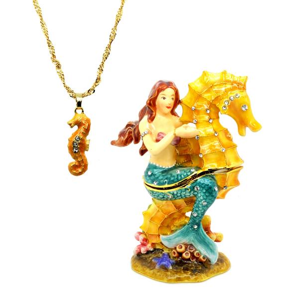 Mermaid Seahorse Trinket Box Vandenbergs Fine Jewellery Winnipeg, MB