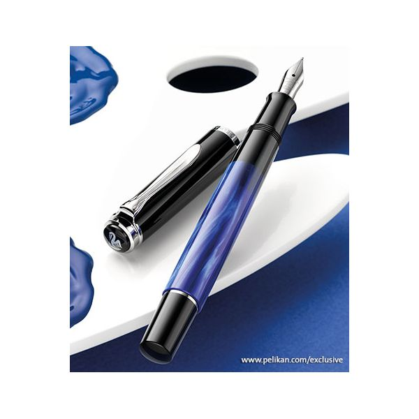 Classic Blue Marbled Fountain Pen Image 2 Vandenbergs Fine Jewellery Winnipeg, MB