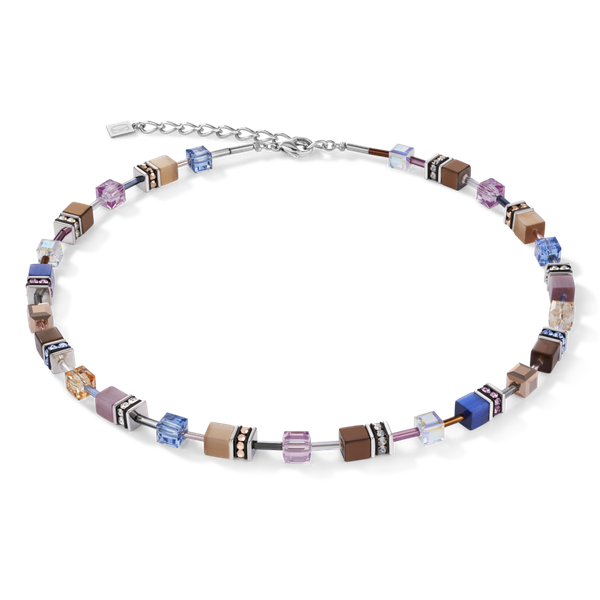 Blue-Brown Lilac GeoCube Necklace Vandenbergs Fine Jewellery Winnipeg, MB