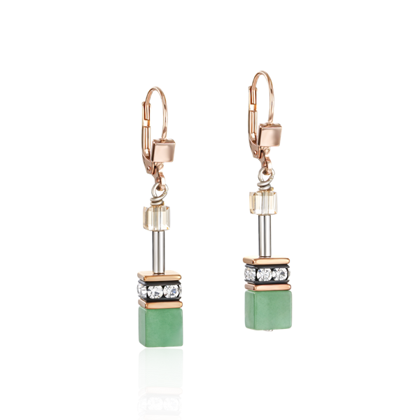 Green-Beige Swarovski Earrings Vandenbergs Fine Jewellery Winnipeg, MB