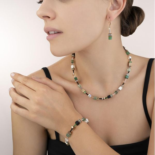 Green Swarovski GeoCube Necklace Image 2 Vandenbergs Fine Jewellery Winnipeg, MB