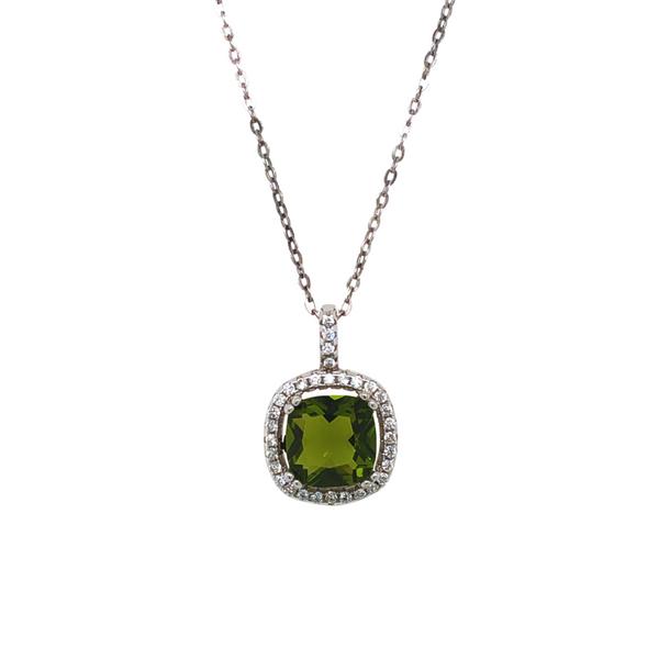 Green & White Cubic Zirconia Necklace Vandenbergs Fine Jewellery Winnipeg, MB