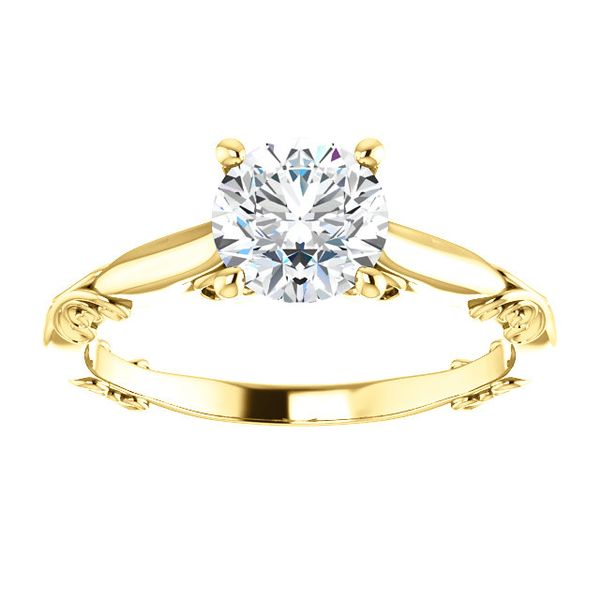 stuller solitaire engagement ring yellow gold