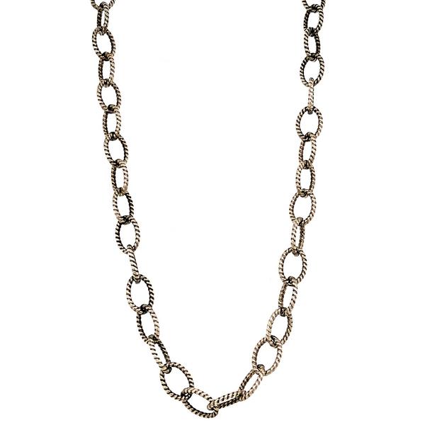 "Sterling Silver Oxidized 36"" Chain Necklace Vandenbergs Fine Jewellery Winnipeg, MB"