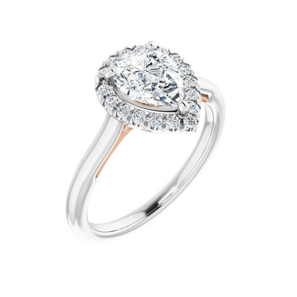 Pear French-Set Engagement Ring Mounting Vandenbergs Fine Jewellery Winnipeg, MB