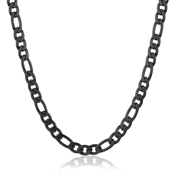 Black Steel Figaro Chain Image 2 Vandenbergs Fine Jewellery Winnipeg, MB