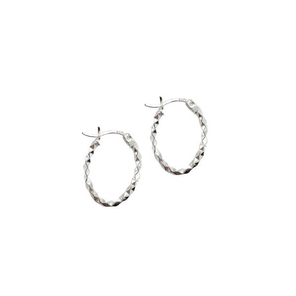 Sterling Silver Oval Hoops Vandenbergs Fine Jewellery Winnipeg, MB