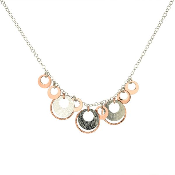 Sterling Silver Rose Gold Plated Circle Necklace Vandenbergs Fine Jewellery Winnipeg, MB