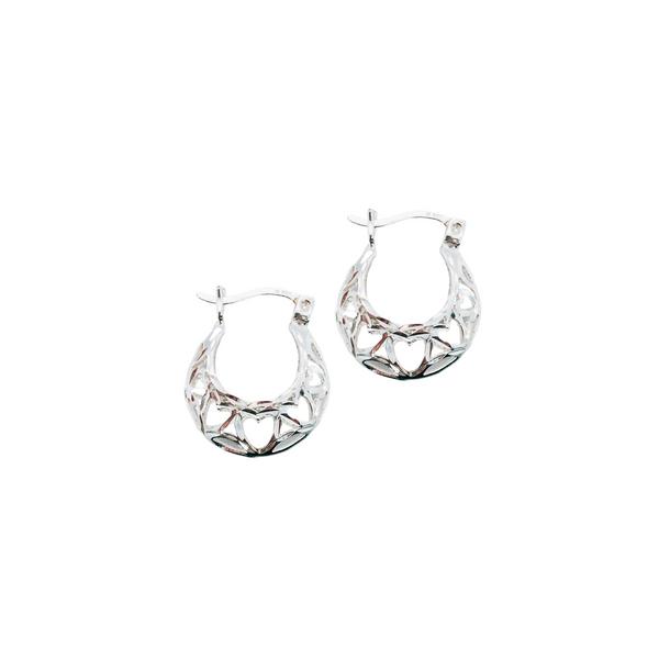 Sterling Silver Heart Design Earrings Vandenbergs Fine Jewellery Winnipeg, MB