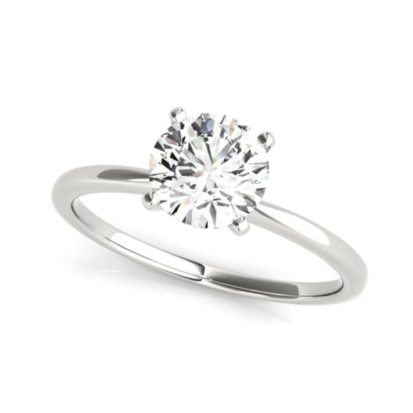 14K White Round Lab Grown Diamond Solitaire Engagement Ring Vandenbergs Fine Jewellery Winnipeg, MB