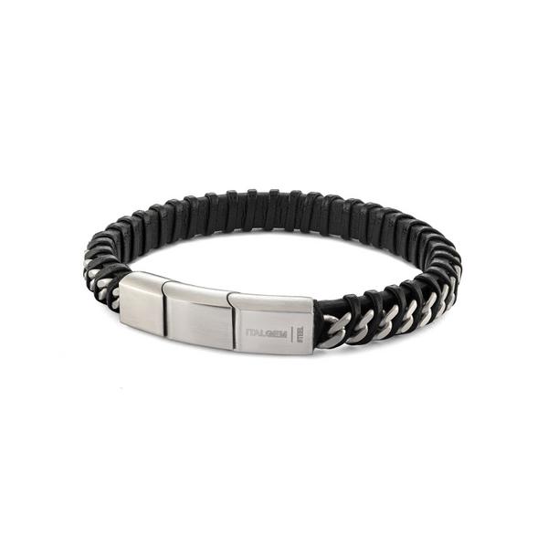 Leather & Stainless Steel Bracelet Vandenbergs Fine Jewellery Winnipeg, MB