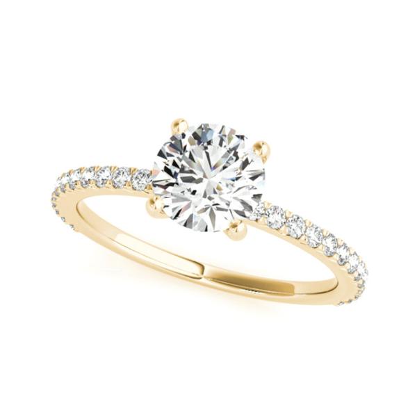 14K Yellow Round Lab Grown Diamond Engagement Ring Vandenbergs Fine Jewellery Winnipeg, MB