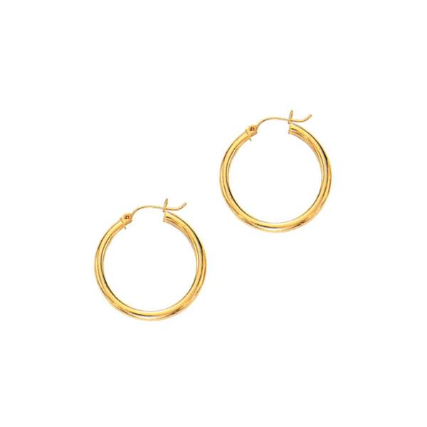 14K Gold 3mm Hoop Earrings Vandenbergs Fine Jewellery Winnipeg, MB