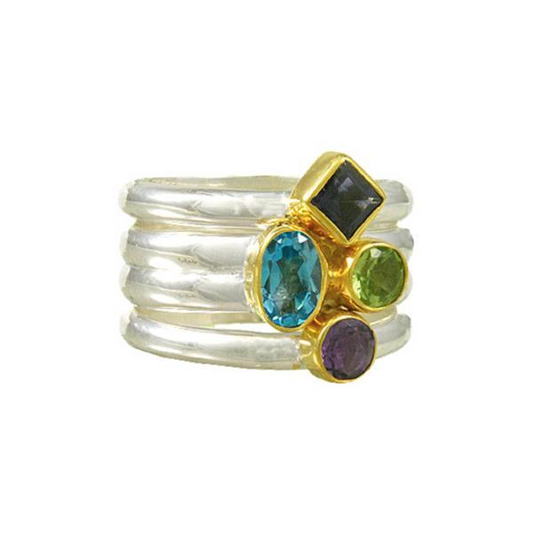Sterling Silver & 22K Gold Vermeil Kaleidoscope Ring Vandenbergs Fine Jewellery Winnipeg, MB