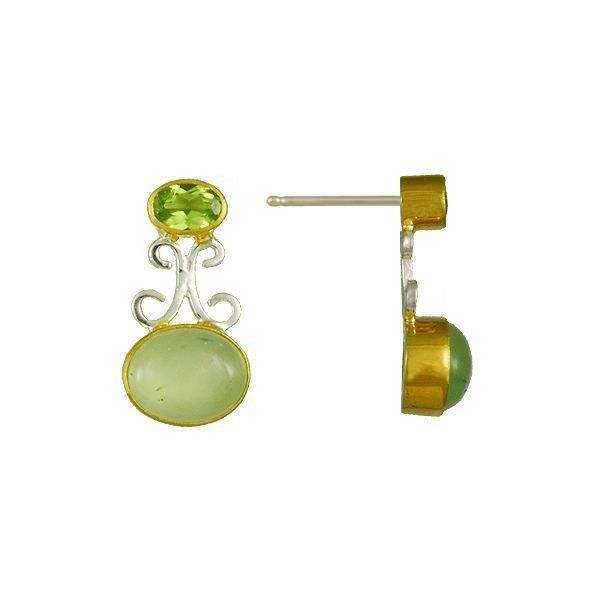 Prehnite & Peridot Earrings Vandenbergs Fine Jewellery Winnipeg, MB