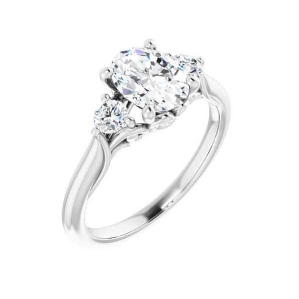 3 Stone Engagement Ring Mounting Vandenbergs Fine Jewellery Winnipeg, MB