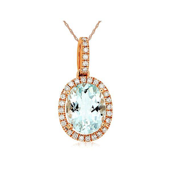 diamond aquamarine necklace