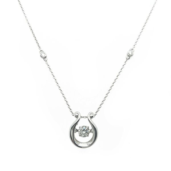 14K White Gold Dancing Diamond Necklace Vandenbergs Fine Jewellery Winnipeg, MB