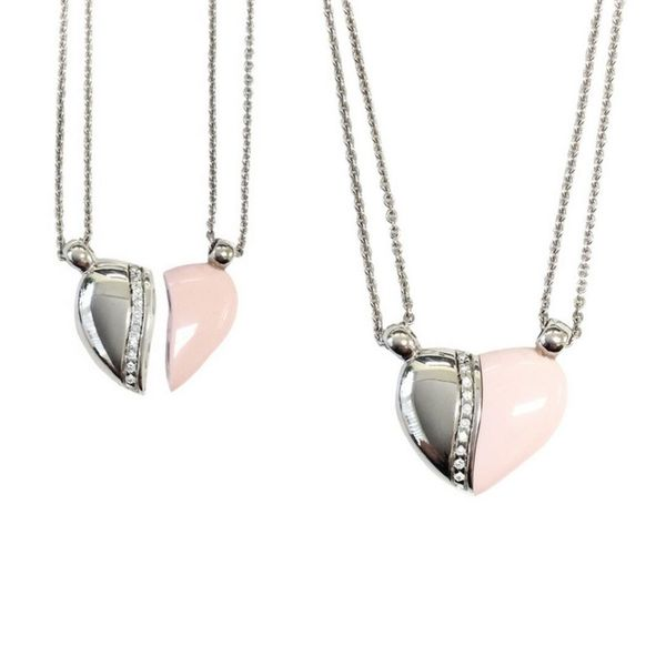 Petra Azar Sterling Silver/Pink Heart Pendant