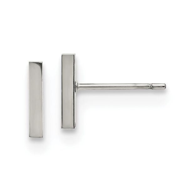 Stainless Steel Polished Bar Post Earrings Vandenbergs Fine Jewellery Winnipeg, MB