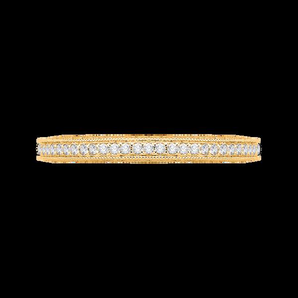 14K Yellow Gold Round Diamond Eternity Wedding Band Image 2 Vandenbergs Fine Jewellery Winnipeg, MB