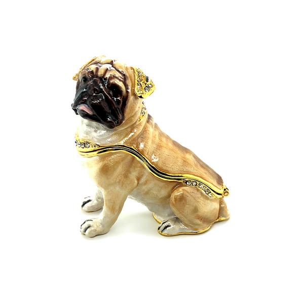 Pug Pup Trinket Box Image 2 Vandenbergs Fine Jewellery Winnipeg, MB