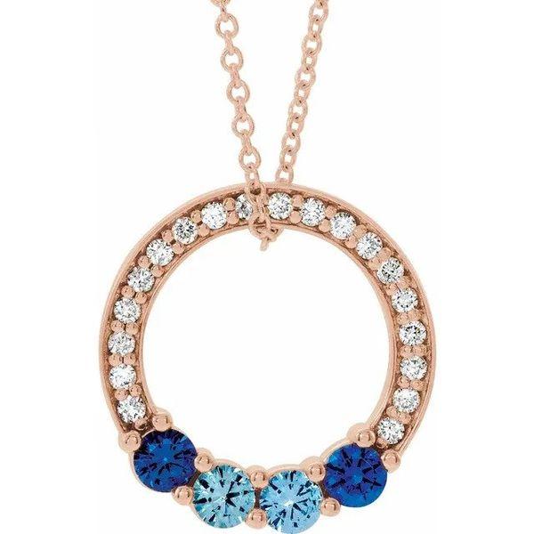Family Birthstone Circle Necklace Vandenbergs Fine Jewellery Winnipeg, MB