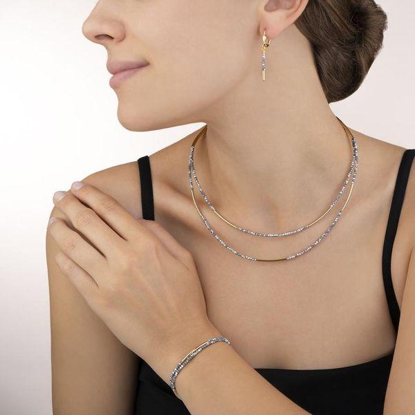 Gold Glass Bead Dangle Earrings Image 2 Vandenbergs Fine Jewellery Winnipeg, MB