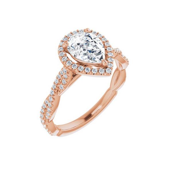 Pear Twist Engagement Ring Mounting Vandenbergs Fine Jewellery Winnipeg, MB