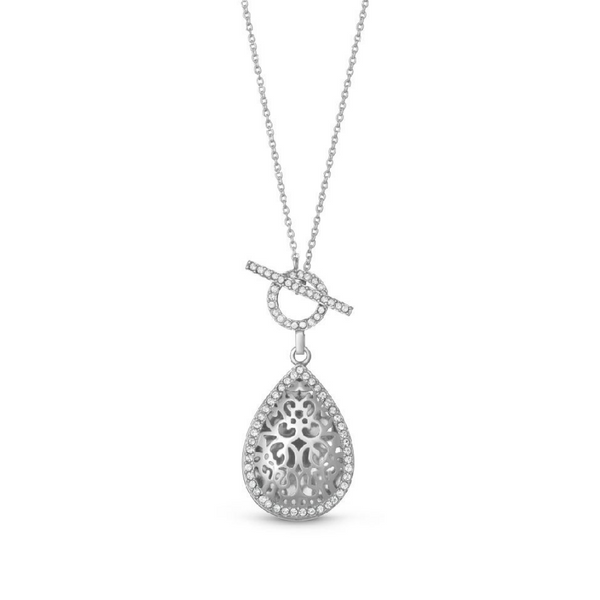 "Sterling Silver White Sapphire ""Bella"" Locket Vandenbergs Fine Jewellery Winnipeg, MB"
