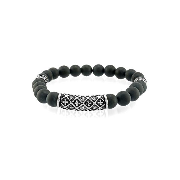 Matte Black Onyx Bead Bracelet Vandenbergs Fine Jewellery Winnipeg, MB