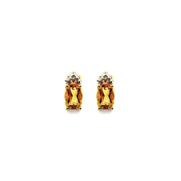 14K Yellow Gold Citrine Studs Vandenbergs Fine Jewellery Winnipeg, MB