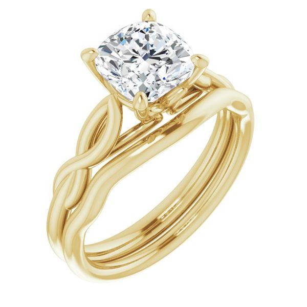 Cushion Solitaire Engagement Ring Mounting Image 2 Vandenbergs Fine Jewellery Winnipeg, MB