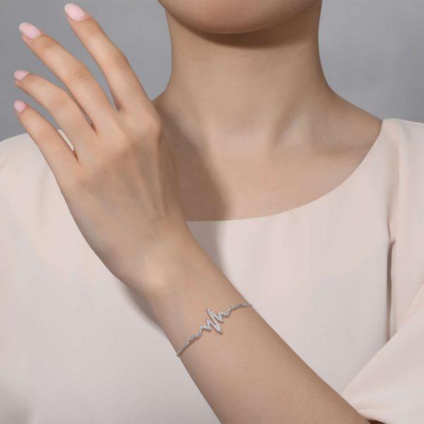 Pave Heartbeat Bracelet Image 2 Vandenbergs Fine Jewellery Winnipeg, MB