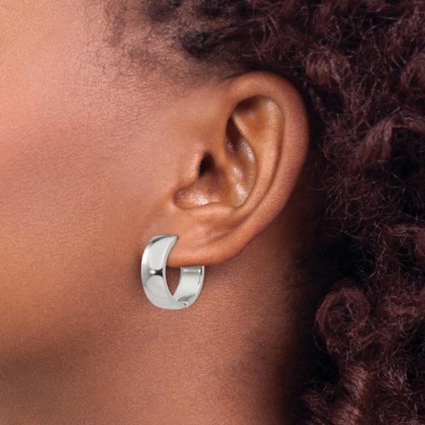 Stainless Steel Mini Hoop Earrings Image 2 Vandenbergs Fine Jewellery Winnipeg, MB