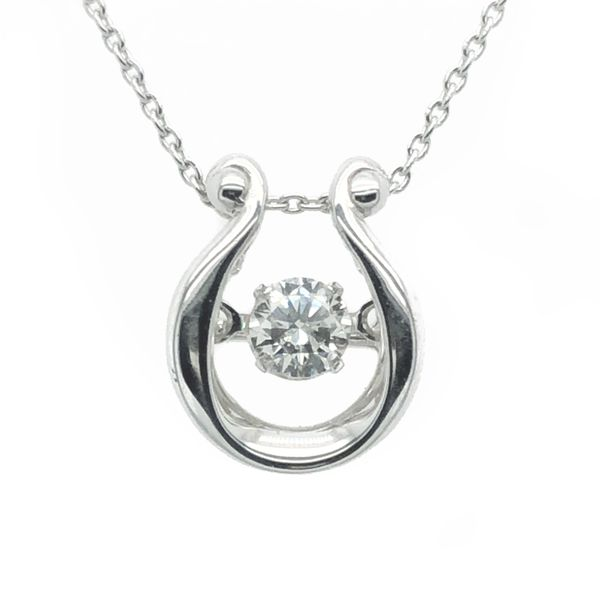 14K White Gold Dancing Diamond Necklace Image 2 Vandenbergs Fine Jewellery Winnipeg, MB