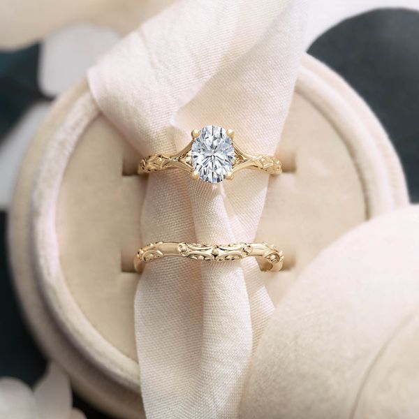 Oval Solitaire Scroll Engagement Ring Mounting Image 2 Vandenbergs Fine Jewellery Winnipeg, MB