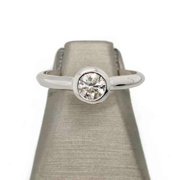 14K Bezel Set Diamond Engagement Ring Vandenbergs Fine Jewellery Winnipeg, MB