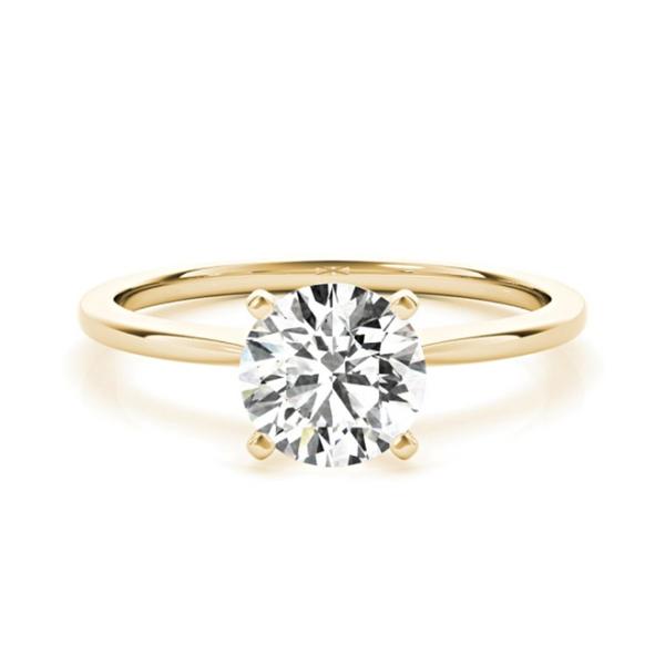 14K Yellow Lab Grown Diamond Solitaire Engagement Ring Vandenbergs Fine Jewellery Winnipeg, MB