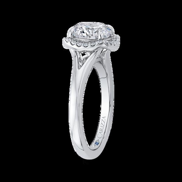 Split Shank Halo Semi-Mount Engagement Ring Image 2 Vandenbergs Fine Jewellery Winnipeg, MB