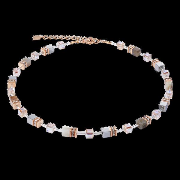 Botswana Agate & Haematite Apricot Necklace Vandenbergs Fine Jewellery Winnipeg, MB
