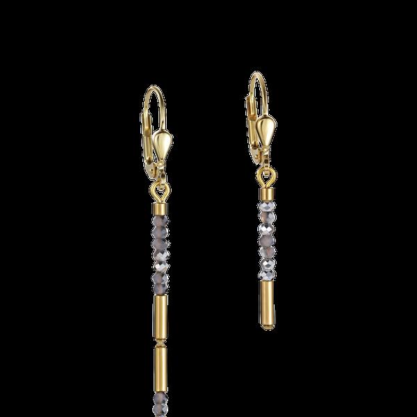 Gold Glass Bead Dangle Earrings Vandenbergs Fine Jewellery Winnipeg, MB
