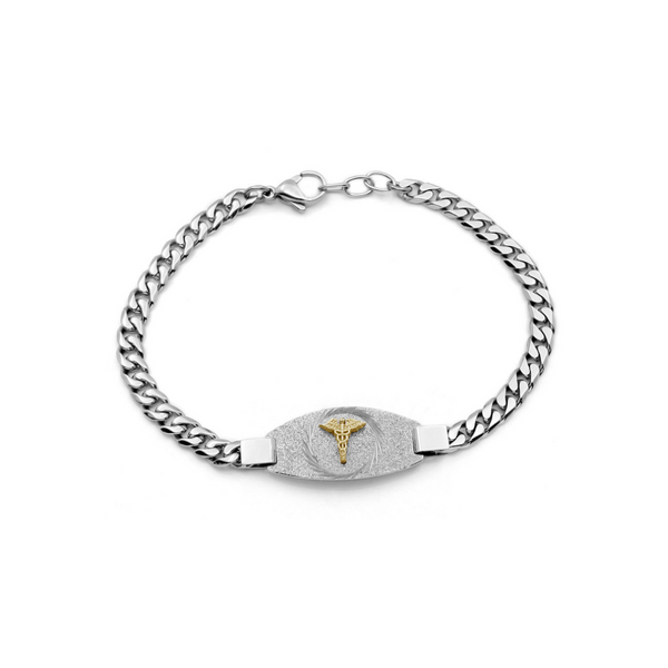 Ladies Stainless Steel Sparkle Medical Bracelet Vandenbergs Fine Jewellery Winnipeg, MB