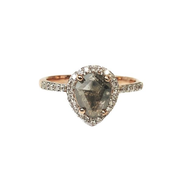 salt and pepper engagement ring rose gold