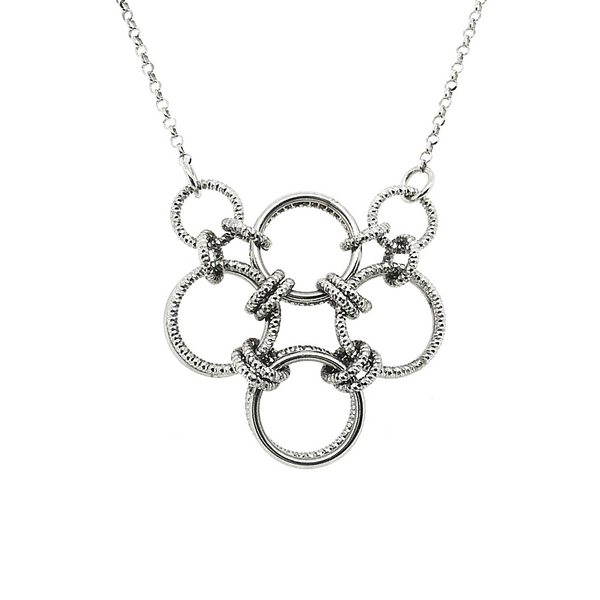 Frederic Duclos Sterling Silver Hoop Necklace Vandenbergs Fine Jewellery Winnipeg, MB