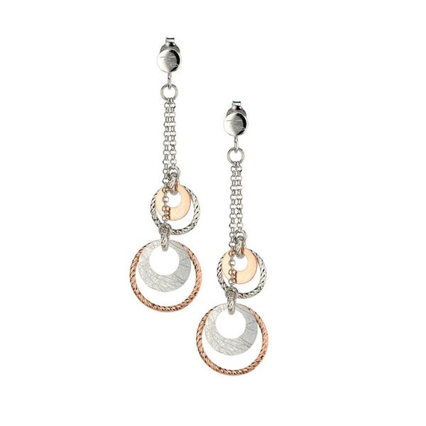Frederic Duclos Two Tone Circle Earrings